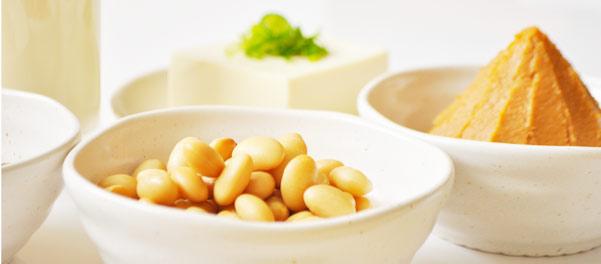 蒸し豆など大豆製品