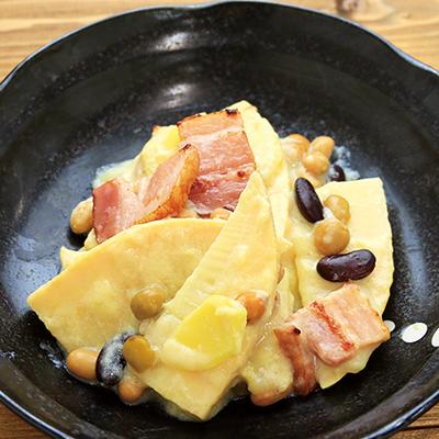 蒸し豆入りタイ風カレー