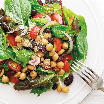 5種の蒸し豆の彩りサラダ